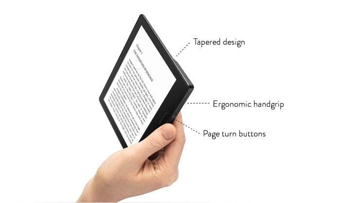 The Kindle Oasis has a high resolution screen. Sweet!