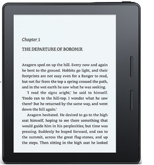 the Kindle Oasis is in Black and White