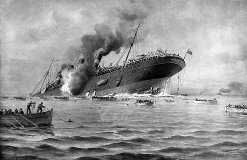 The Lusitania was lost.
