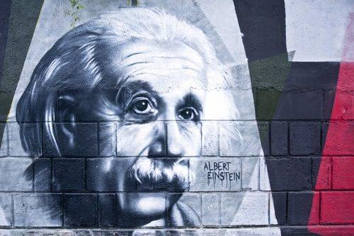 Albert Einstein. Mr. E=MC2 himself. A no brainer.
