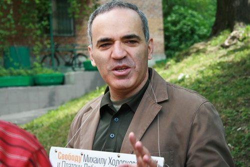 Garry Kasparov: always 10 moves in front of his competition.